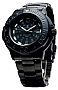 Smith & Wesson Diver - 900 Series - Tritium Illuminated and Bonus Watchband BLACKOUT Design, Black on Black Dial