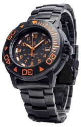 Smith & Wesson Diver - 900 Series - Tritium Illuminated and Bonus Watchband Orange Numerals (SWW-900-OR)