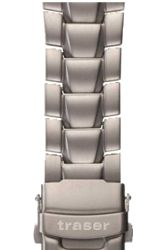 Traser Genuine Traser Watchbands and Straps Titanium (Solid)  Bracelet with Locking Clasp (T15)
