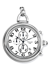 Charles-Hubert Paris Chronograph Pocket Watch