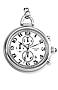 Charles-Hubert Paris Chronograph Pocket Watch White Dial, Black Arabic Numbers, Includes Pocket Watch Chain