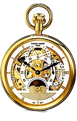 Charles-Hubert Paris Grand Complication Dual Time 17 jewel Pocket Watch