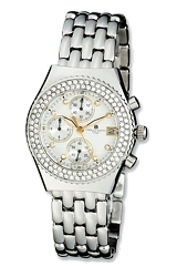 Charles-Hubert Paris Ladies Premium Collection Crystal Chronograph Watch