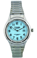 Citadel NiteLite Backlight Watches MEN'S WATCH<br>Silvertone & Steel Case with a Stainless Steel Expansion Bracelet (XWA5064)