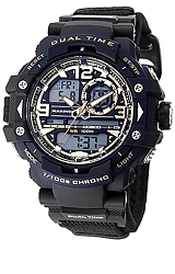 Wrist Armor U.S. Marines Dual Time Digital-Analog Chronograph