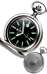 Charles-Hubert Paris Hunter's Case T100 Tritium Pocket Watch