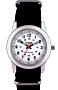 Citadel Railroad Wrist Watches with Nitelite, Push-Button Back Light White Railroad Dial, Backlight, NATO Style Nylon Strap